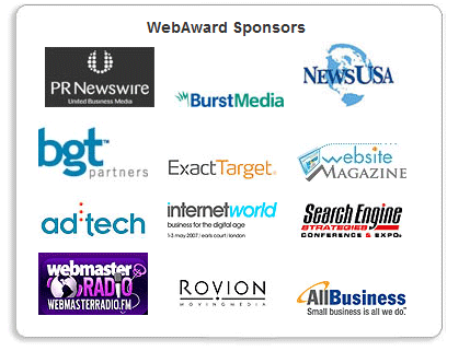 PRNewswire - one of the WebAward sponsors.