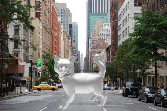 Monopoly Cat on Madison Avenue